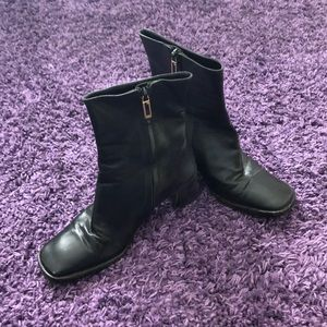 Gucci square toe boot